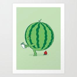 The Making of Strawberry Art Print