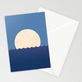 Moonrise Night Sky Stationery Cards