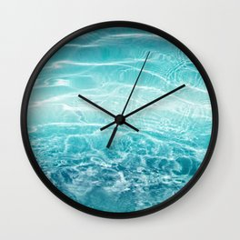 Blue Ocean Dream #1 #water #decor #art #society6 Wall Clock