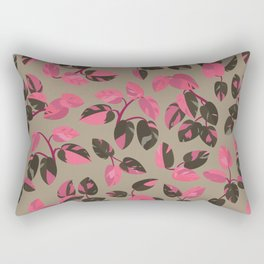 Philodendron Pink Princess Rare Tropical Houseplant Pattern Rectangular Pillow