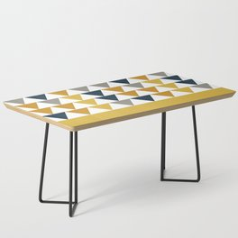 Arrows Cuff - Minimalist Geometric Color Block Pattern in Light and Dark Mustard, Grey, Navy Blue, and White Coffee Table