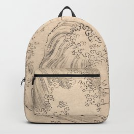 Wave by Katsushika Hokusai 1760–1849, Japanese Backpack