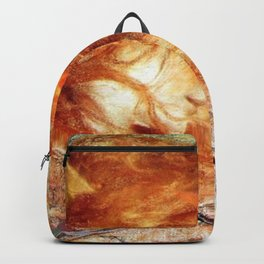A Gust of Autumn Wind portrait painting by Lucien Levy Dhurmer Backpack