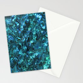 Abalone Shell | Paua Shell | Sea Shells | Patterns in Nature | Cyan Blue Tint | Stationery Cards