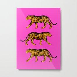 Tigers (Magenta and Marigold) Metal Print