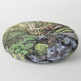 Wanderlust Beauty // Take Me to the Forest Where the Peaceful Waters Flow in the Dense Woods Floor Pillow