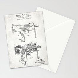 Mac 10 Uzi old canvas Stationery Cards