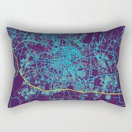 Astana Neon City Map, Astana Minimalist City Map Art Print Rectangular Pillow