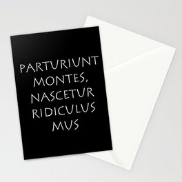Parturiunt montes nascetur ridiculus mus Stationery Cards