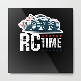 RC Time RC Car Model Build Metal Print