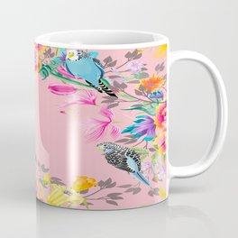 Stardust Pink Floral Birds Motif Coffee Mug