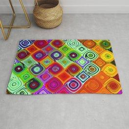 Mosaic Abstract Fractal Art Rug