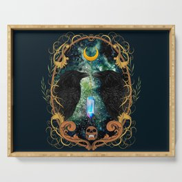 Raven Moon Oracle With Crystal Pendulum Serving Tray