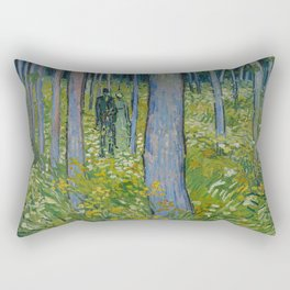 Undergrowth with Two Figures Rectangular Pillow