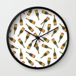 Champagne Bottle Pattern Wall Clock