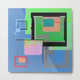 Superfly Muse No 2. Contemporary Mixed Media Abstraction Metal Print