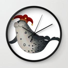 Jester Leopard Seal Wall Clock