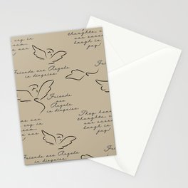 Friends are Angels in Disguise Stationery Cards