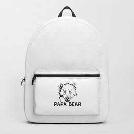 Papa Bear Fierce Eye - Funny Father's Day Dad To Be Cool Pun Gift Backpack