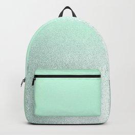 Elegant neo mint pastel green ombre glitter  Backpack