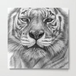 White Tigress  G2013-071 Metal Print