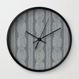 Cable Greys Wall Clock