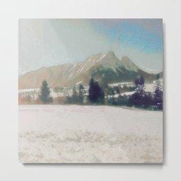 Winterly Landscape III Metal Print