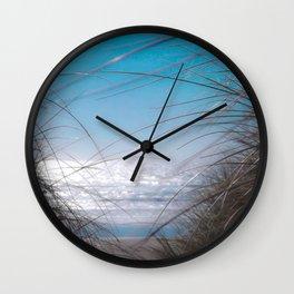 Beach Sand Dunes and Grass on the Oregon Coast Wall Clock