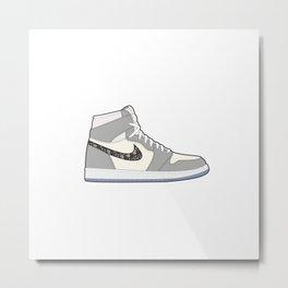 Jordan 1 OG Grey Metal Print
