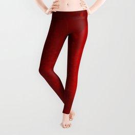 Reaching Through Red Leggings