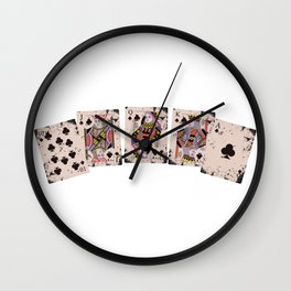 Royal Flush Poker Wall Clock
