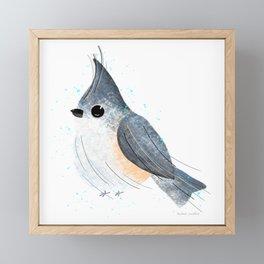 Tufted Titmouse Bird Illustration  Framed Mini Art Print