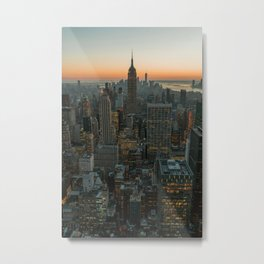 New York Skyline - Manhattan Night Metal Print