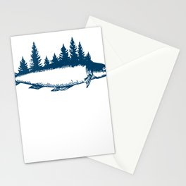 Fishing Nature T-shirt Stationery Cards