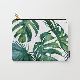Classic Palm Leaves Tropical Jungle Green Tasche
