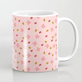 Pink Cherry Floral Pattern Coffee Mug