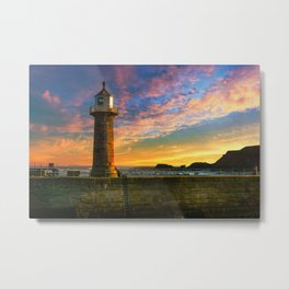 Dawn over Black Nab Metal Print