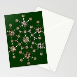 molecule of life. sacred geometry. alien crop circle Stationery Cards