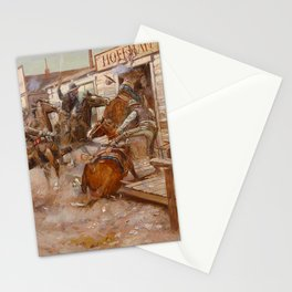 """""""In Without Knocking"""" by Charles M Russell Stationery Cards"""