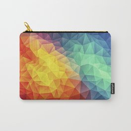 Abstract Polygon Multi Color Cubism Low Poly Triangle Design Carry-All Pouch