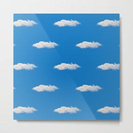 Clouds on a sunny day Blue sky white clouds Summer Mood Metal Print