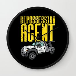 Repossession Agent Wall Clock