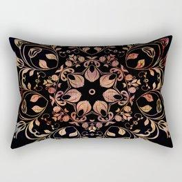deep toned mandala pattern Rectangular Pillow