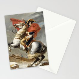 Bonaparte Crossing the Alps Stationery Cards