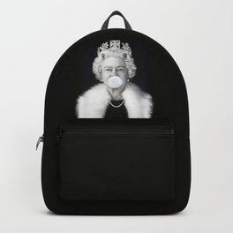 QUEEN ELIZABETH II BLOWING WHITE BUBBLE GUM Backpack