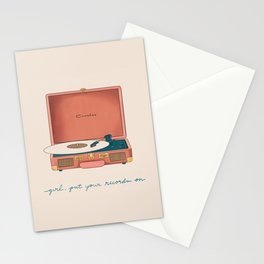 Girl, Put Your Records On Stationery Cards