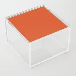 Solid Retro Orange Acrylic Box