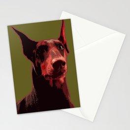 Doberman, majestic dog Stationery Cards