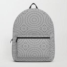 Silver Grey Spiderweb Dreamcatcher Mandala Pattern Backpack