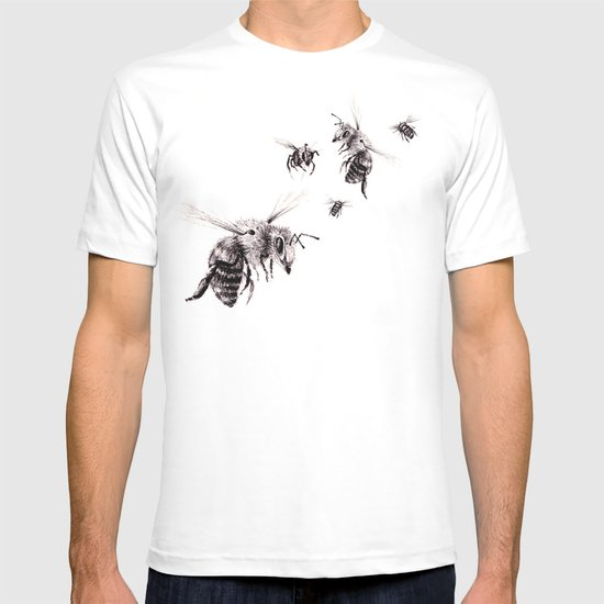 crown of bees t shirt by rachael shankman society6. Black Bedroom Furniture Sets. Home Design Ideas
